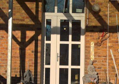 Haustür  mit Sproßen