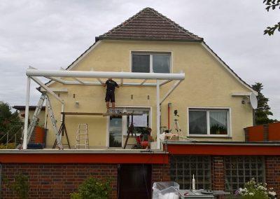 Aufbau Terrassendach Solarlux