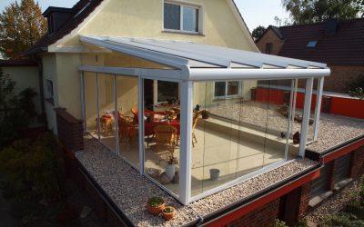 Ein neues Terrassendach der Firma Solarlux SDL Atrium