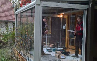 Terrassendach SDL Atrium für einen Kunden in Cottbus