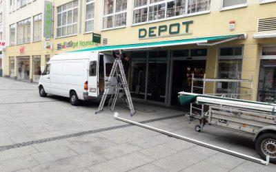 Lieferung und Montage einer 10 Meter Markise