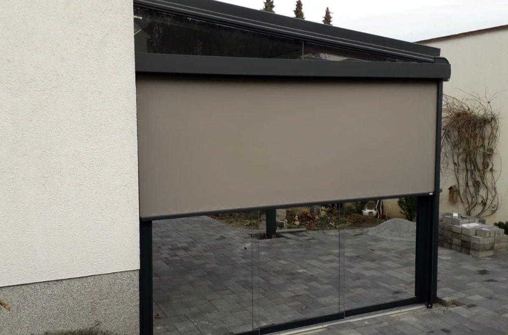 Solarlux Terrasendach SDL Atrium mit Seitenmarkise